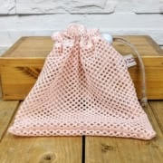 Reusable Small Mesh Wash /Laundry Bag in Pink or White