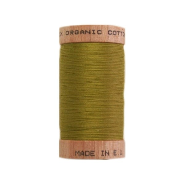 Organic sewing thread, Scanfil Chartreuse 4823