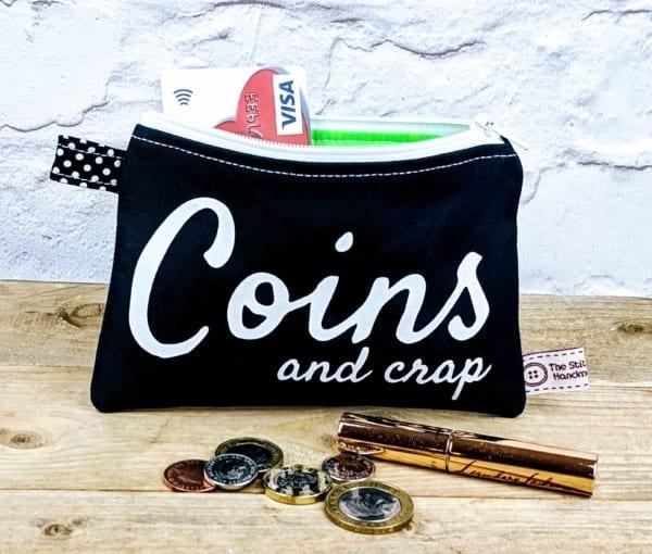 Coin Purse, Zipped Purse, Comic Writing Purse
