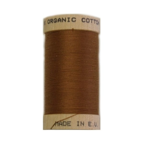 Organic sewing thread, Scanfil Light Brown 4827